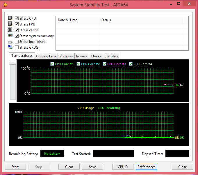 System Stability test before
